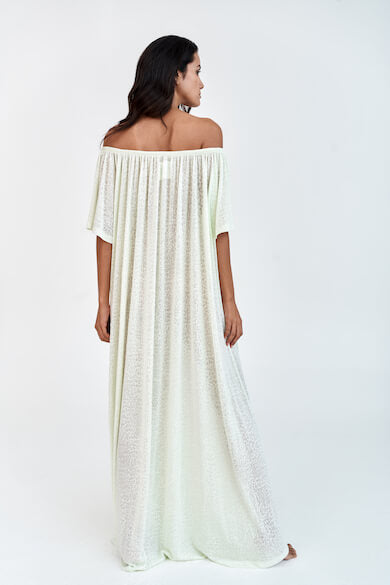 Off The Shoulder Beach Kaftan