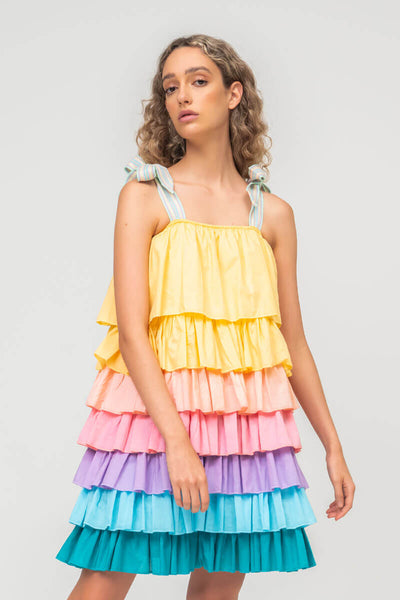 Pi��ata Tiered Dress