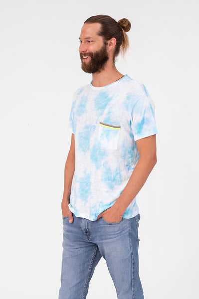 Unisex Tie Dye Pocket T-Shirt