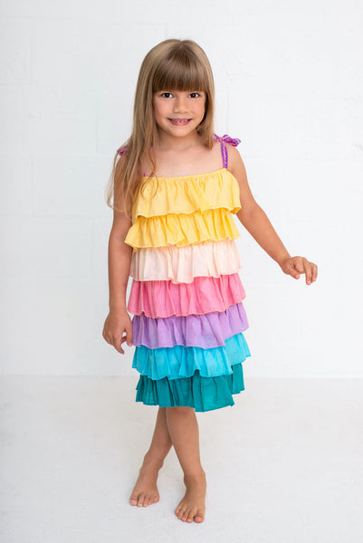 Kid's Pinata Tiered Dress