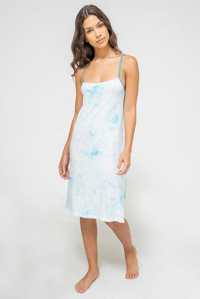Tie Dye Mini Slip Dress