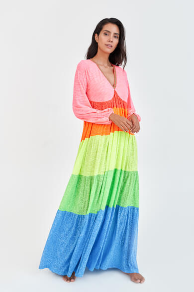 Rainbow V-Neck Dress