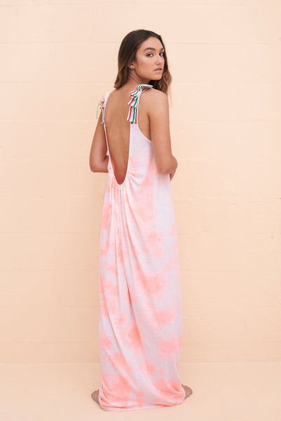 Tie Dye Backless Dress