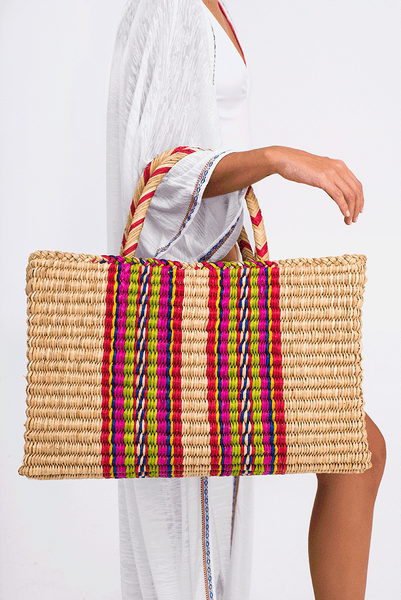 Straw Picnic Bag