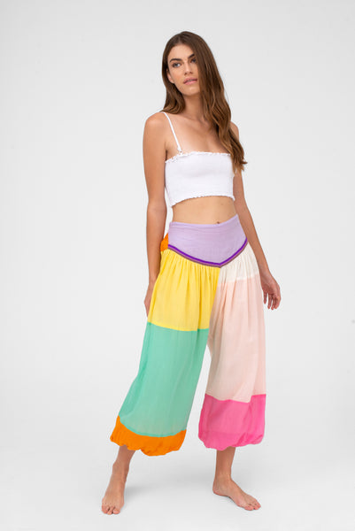 Aladdin Color Patch Pant