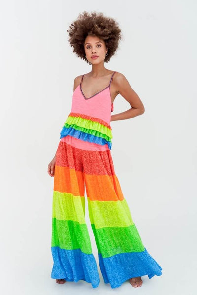Rainbow Tiered Cami