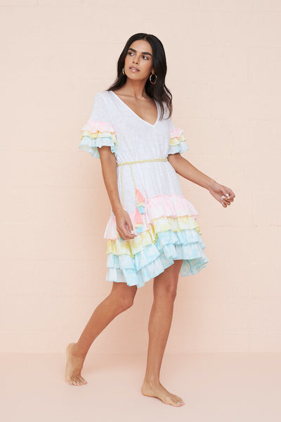 Ruffle Sleeve T-Shirt Dress