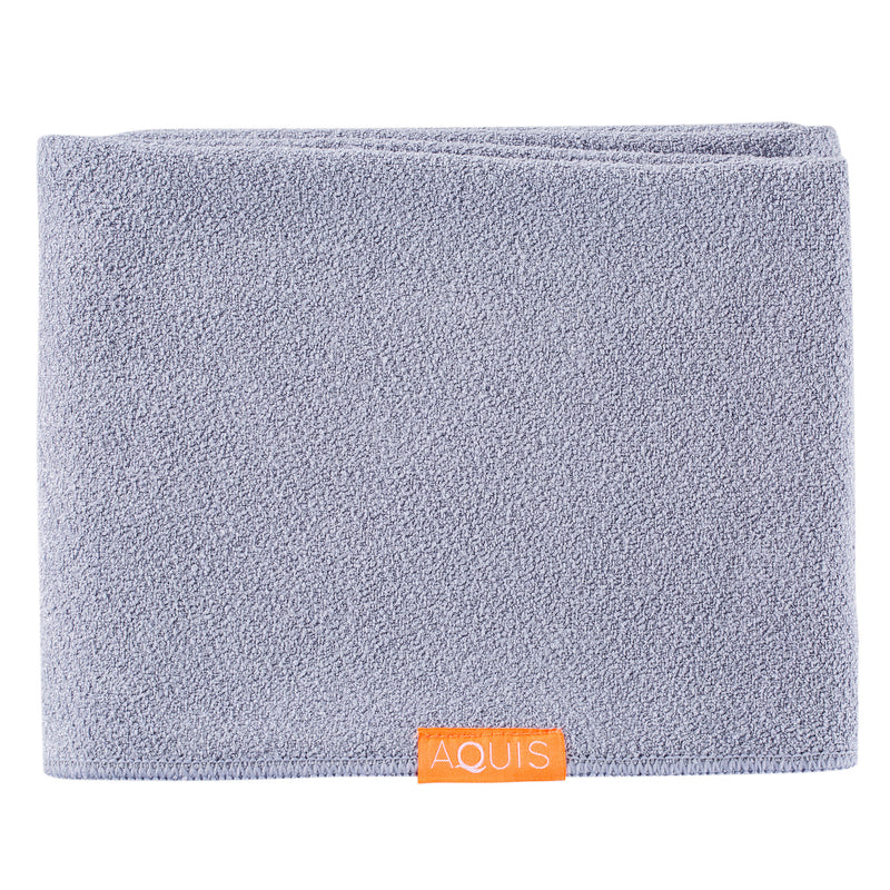 Aquis Lisse Luxe Long Hair Towel - Cloudy Berry