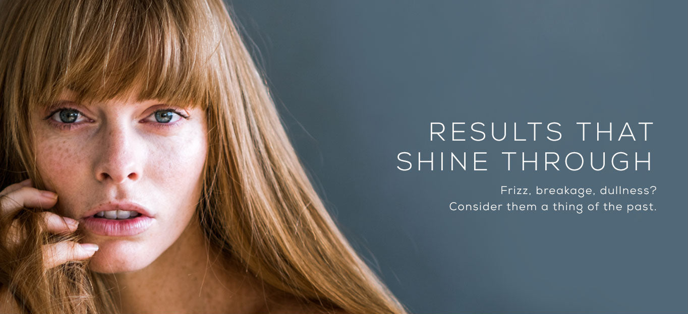AQUIS increases shine and reduces frizz