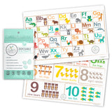 Disposable Placemats - ABC & Numbers