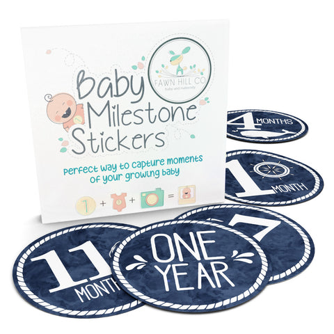 Nautical Monthly Milestone Stickers for Babies