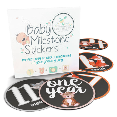 Woodland Monthly Milestone Stickers for Babies