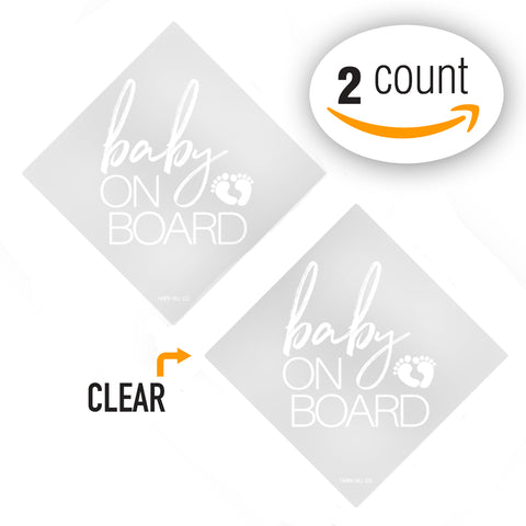 Baby On Board Car Window Sticker