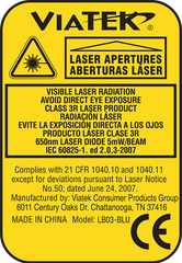 Hair Pro - Laser Warning Label