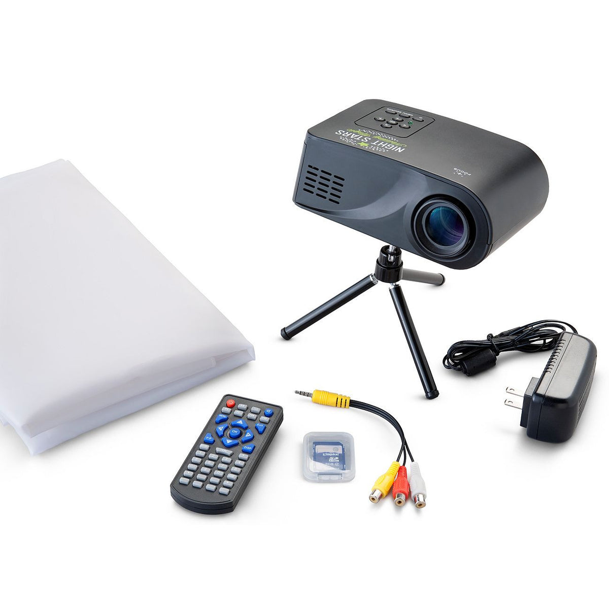Night Stars Celebration – Digital Motion Projector with 12 Holiday Animations