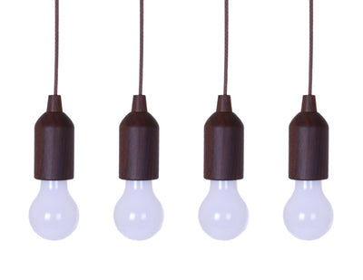 Pull Light Battery-Powered LED Pendant Lights