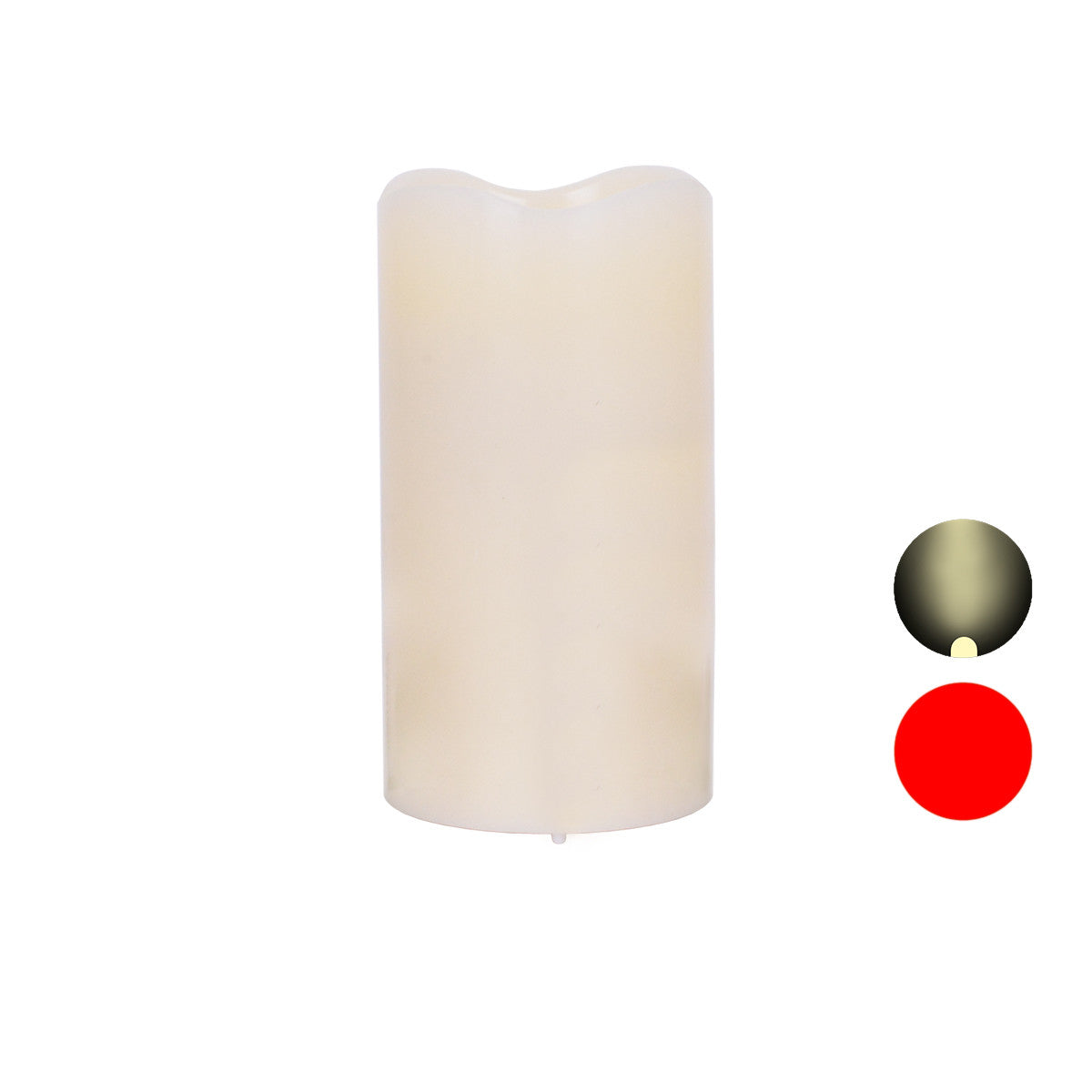 6 Inch Wax Laser and Flickering LED Candle (Non-Rechargeable)