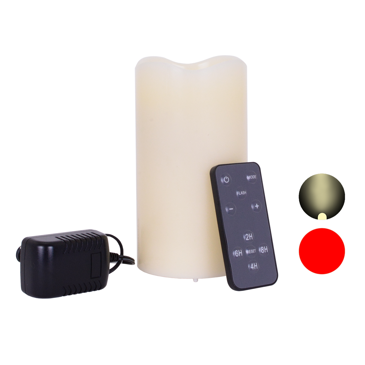 6 Inch Rechargeable Wax Laser and Flickering LED Candle