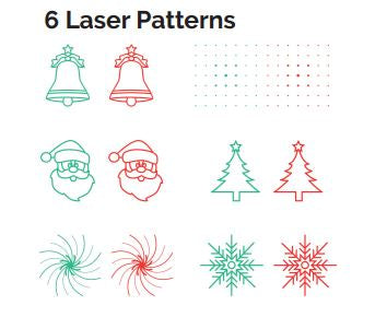 Night Stars Moving 6 Pattern Lasers with Red & Green
