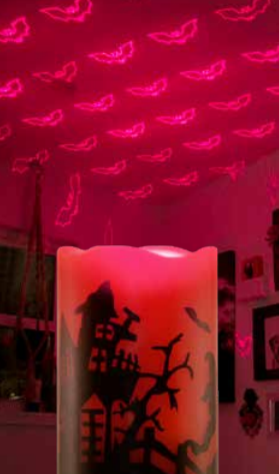 Night Stars Laser Bat Candle