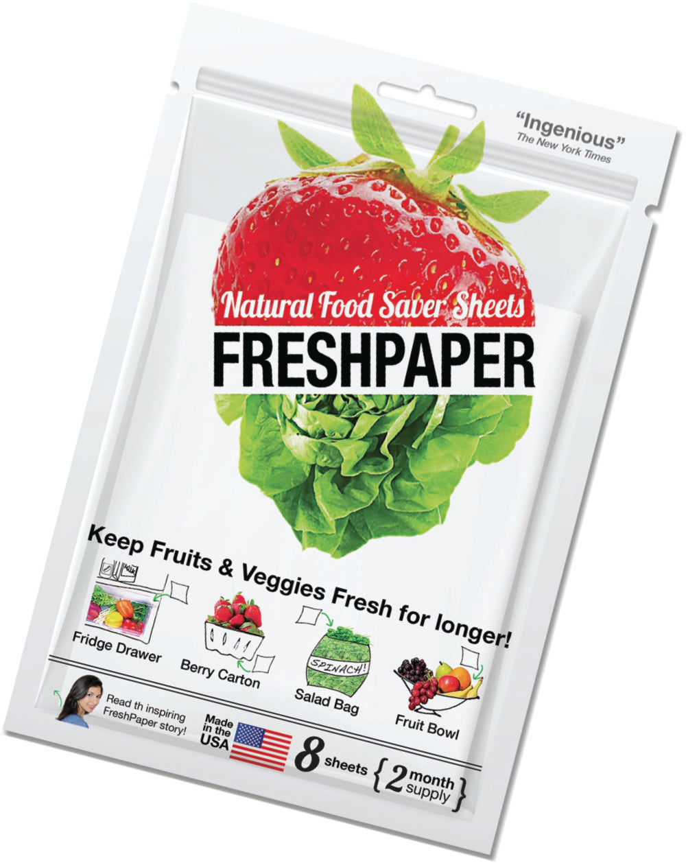 FreshPaper Natural Food Saver Sheets