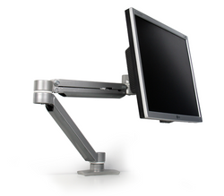 UpDown Series Single Monitor Double Extension Arm | Silver