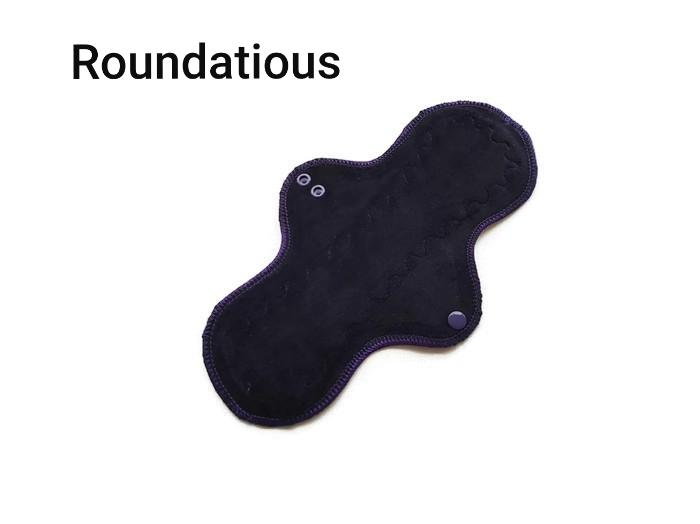 CHEECOLICIOUS - Bamboo Viscose Velour Cloth Pads - Fleece Backed - Razzi-Berry Organic Cotton Sherpa Cloth Pad