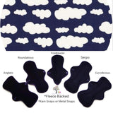 Fleece Backed - Dark Purple Clouds Jersey Cloth Pad