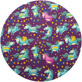 CHEECOLICIOUS Cotton Jersey Cloth Pads - Fleece Backed - Organic Dancing Unicorns Cotton Jersey Cloth Pad