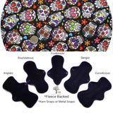 Fleece Backed - Sugar Skulls Cotton Jersey Cloth Pad