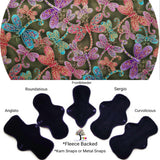 CHEECOLICIOUS Woven Cotton Cloth Pads - Fleece Backed Reusable Cloth Pad - Firefly's Woven Cotton