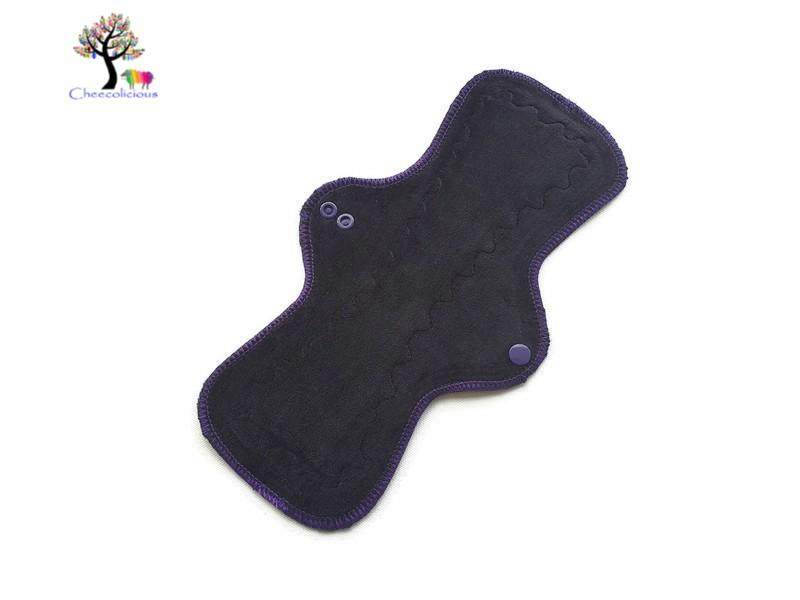 "Instock Cloth Pads - Cheecolicious - 11"" Classic - Moderate - Cloth Pad - Fleece Backed"