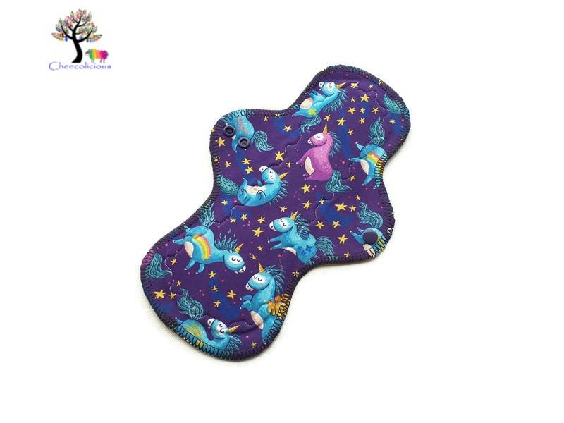 "Instock Cloth Pads - Cheecolicious - 11"" Wide - Moderate - Cloth Pad - Fleece Backed"