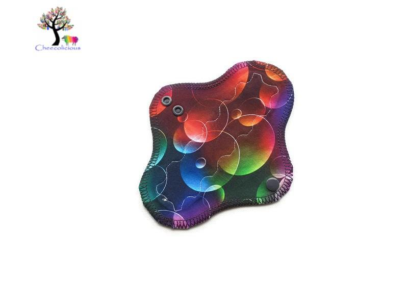 "Instock Cloth Pads - Cheecolicious - 7"" Slim - Light - Cloth Pad - Fleece Backed"