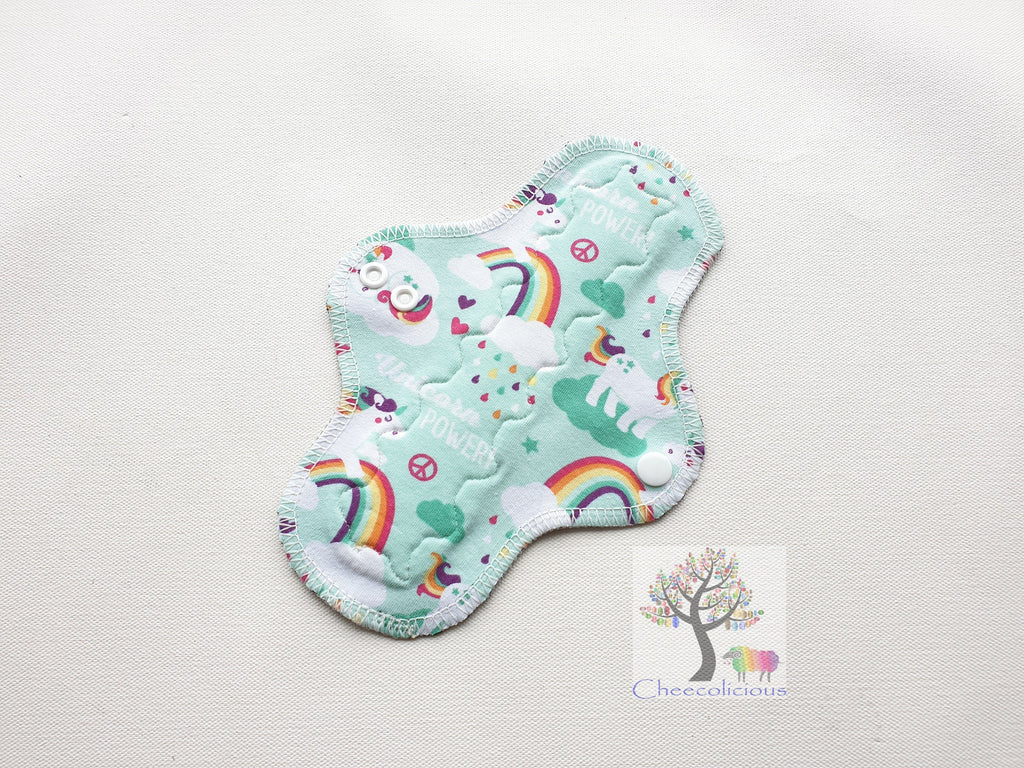"Instock Cloth Pads - Cheecolicious - 8"" Slim - Light - Cloth Pad - Fleece Backed"
