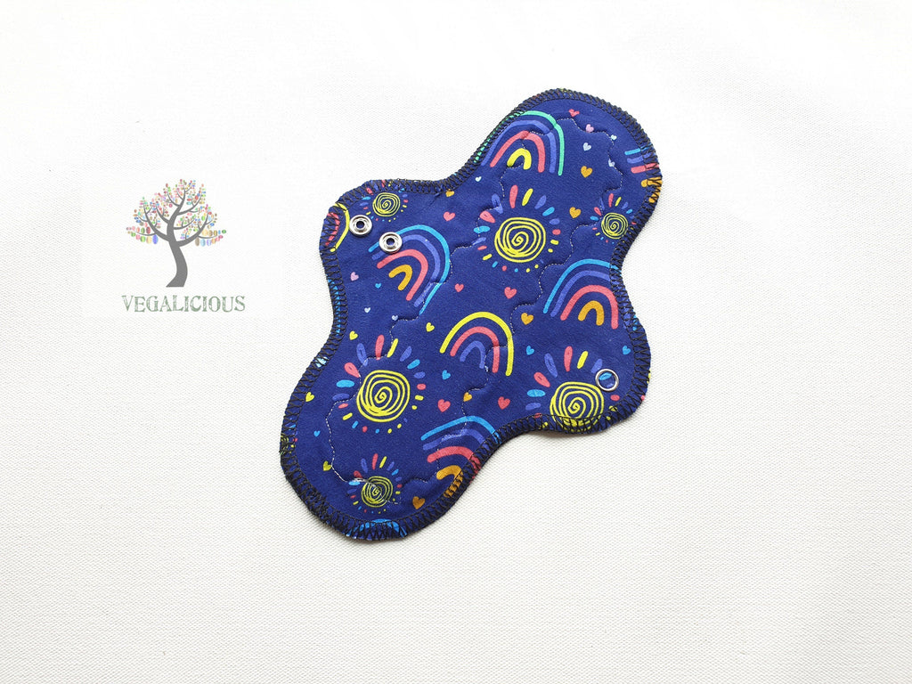 "Instock Cloth Pads - Vegalicious - 9"" Classic - Heavy - Cloth Pad - Natural Fibre Waterproof"