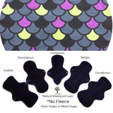 VEGALICIOUS Cotton Jersy Cloth Pad - Plastic Free - Dragon Scales Jersey Cloth Sanitary Pad