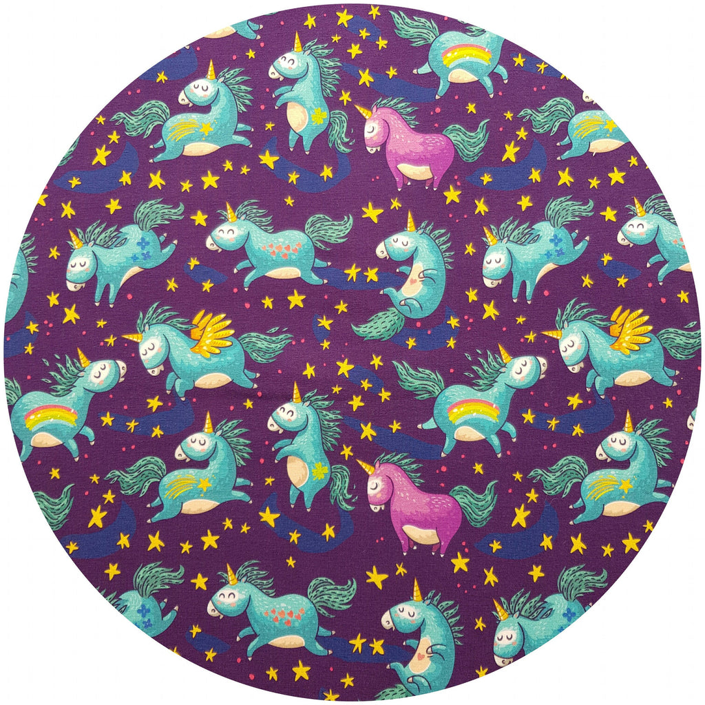 VEGALICIOUS Cotton Jersy Cloth Pad - Plastic Free - Organic Dancing Unicorns Jersey  Reusable Cloth Pad