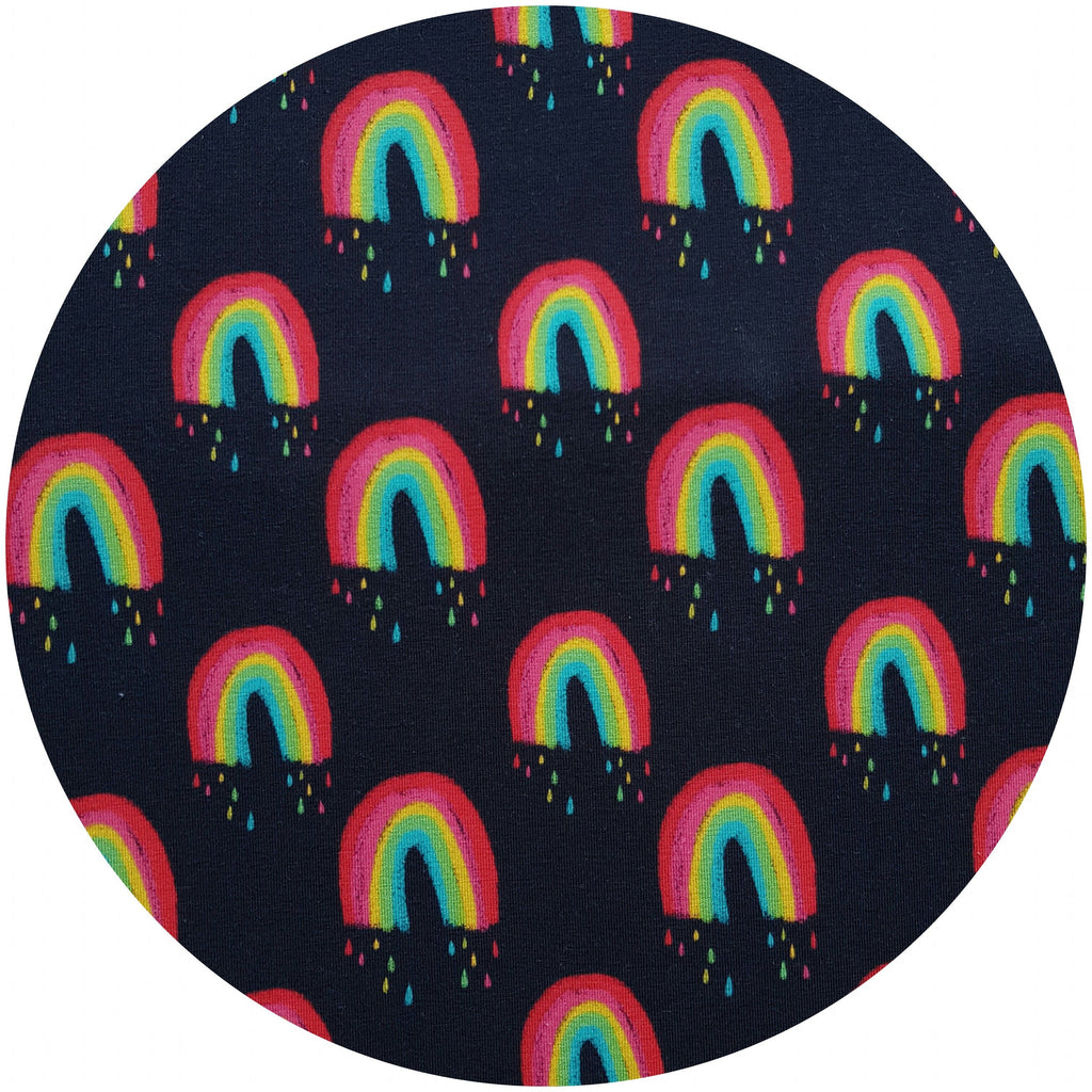 VEGALICIOUS Cotton Jersy Cloth Pad - Plastic Free - Organic Melting Rainbows Cotton Jersey  Reusable Cloth Pad