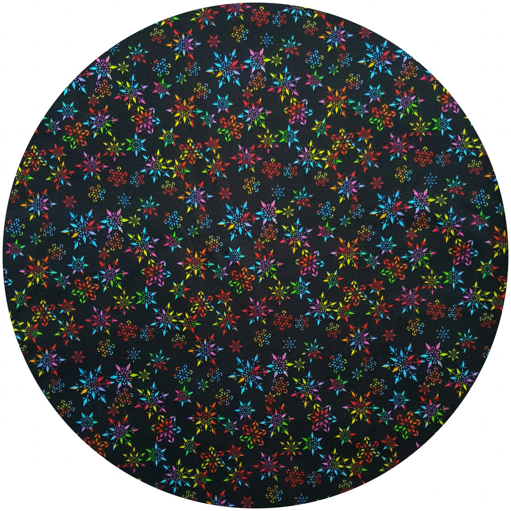VEGALICIOUS Cotton Jersy Cloth Pad - Plastic Free - Organic Rainbow Snowflakes Jersey  Reusable Cloth Pad