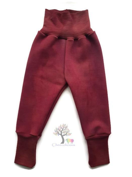 Wool Longies - Organic Merino Wool Interlock - Grow With Me - Wool Trousers - Diaper Covers