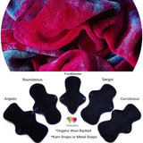 Organic Wool Backed Cloth Pad - Berry Blast Bamboo Viscose Velour