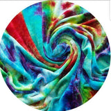 WOOLICIOUS - Bamboo Viscose Velour Cloth Pads View - Organic Wool Backed Cloth Pad - Rainbow Swirl Bamboo Viscose Velour