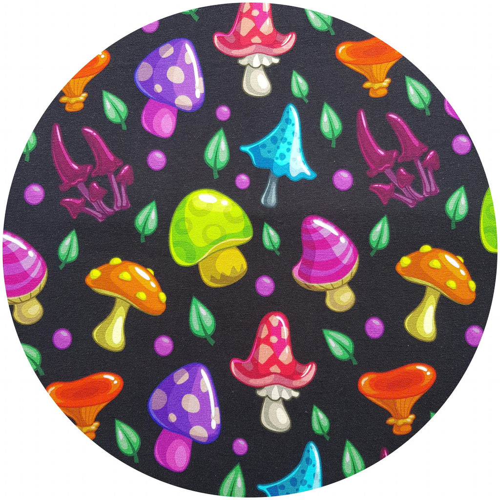 WOOLICIOUS - Cotton Jersey Cloth Pads - Organic Wool Backed - Psychedelic Mushrooms  Organic Cotton Jersey Cloth Pad