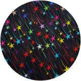 WOOLICIOUS - Cotton Jersey Cloth Pads - Organic Wool Backed - Rainbow Shooting Stars Cotton Jersey Cloth Pad