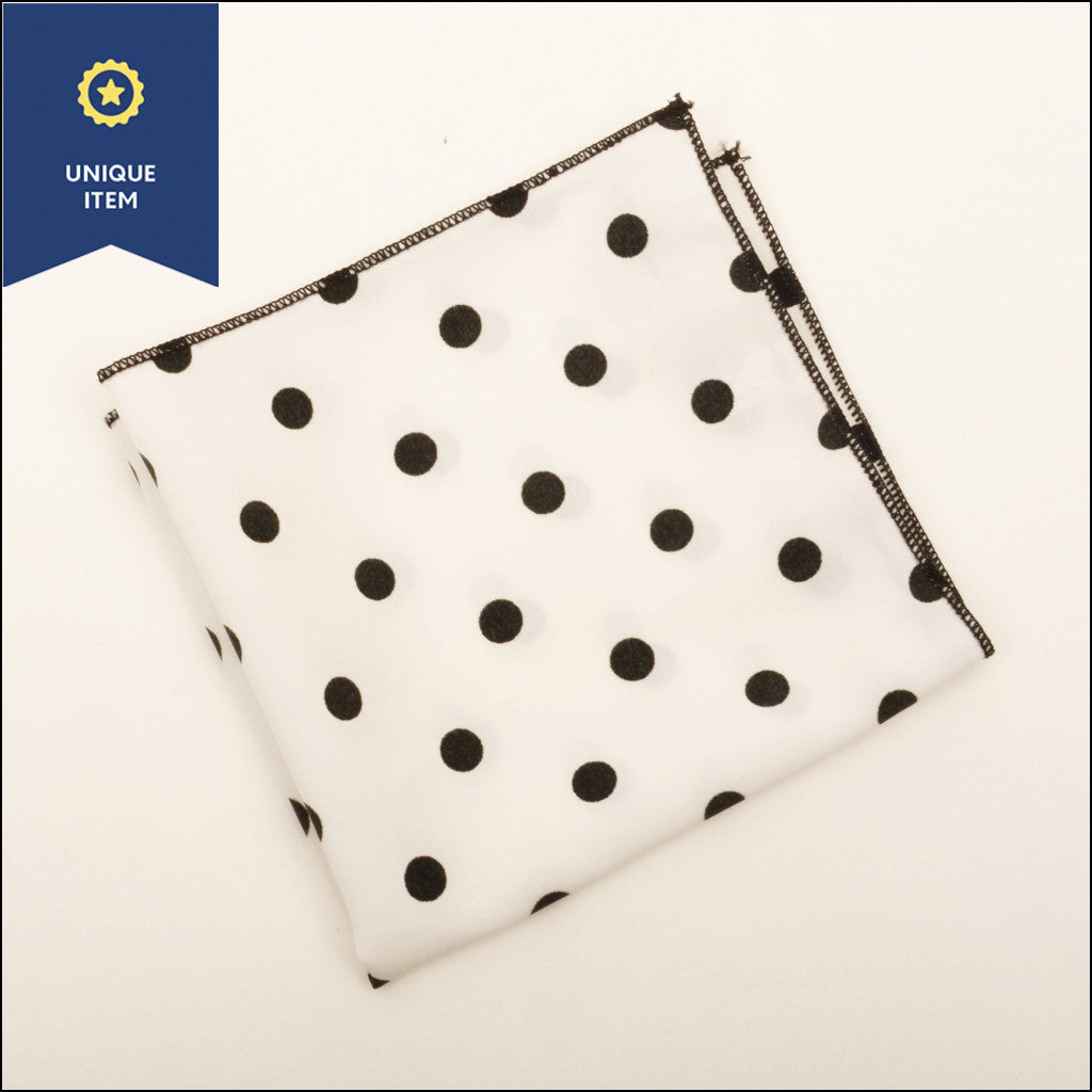 Black Dots Pocket Square