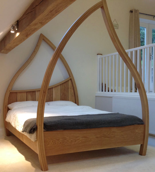 Custom made Oak Four Poster Bed