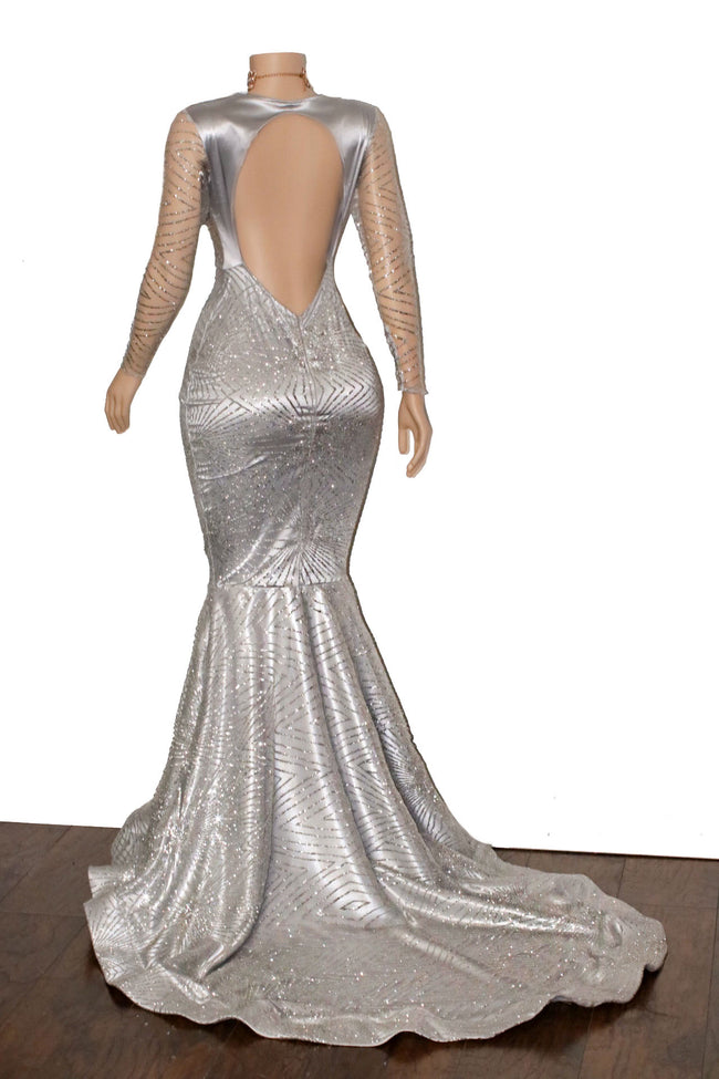 The PLATINUM Glitz Gown- Available in 8 colors