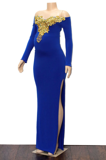 The ROYALTY Maternity Gown- Available in 6 colors