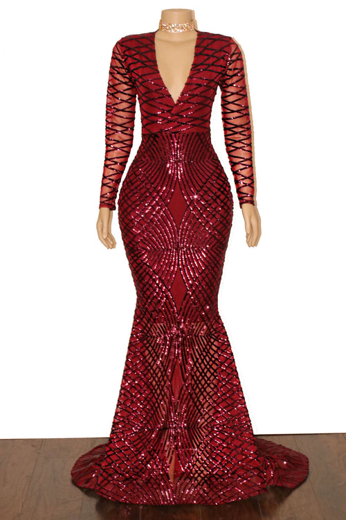 The JELIA Sequins Gown- Available in 10 colors